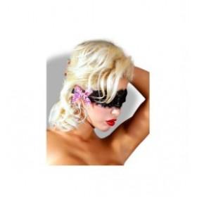 bandeau pour les yeux loup - PROVOCATIVE - noir et rose