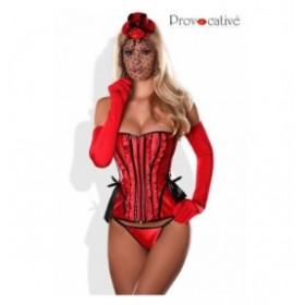 gants satin - provocative - rouge