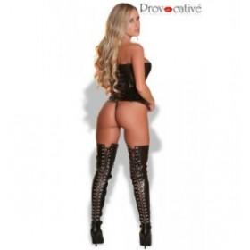 provocative - corset - noir