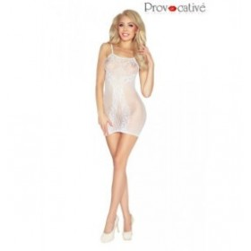 robe transparente - provocative - blanche