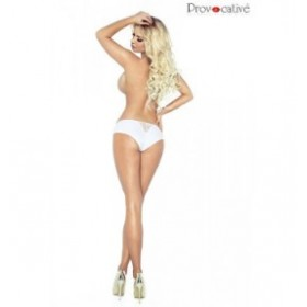 Culotte shorty - PROVOCATIVE - blanc