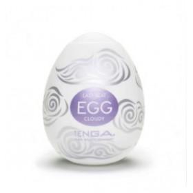 egg cloudy - tenga - masturbateur - blanc gris