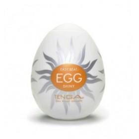 egg shiny - tenga - masturbateur - blanc gris