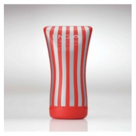 ultra size soft tube cup - tenga - masturbateur - rouge gris