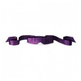 Bandeau violet doux soie