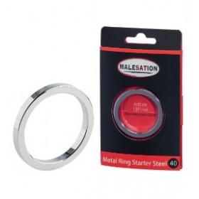 Anneau penien - Metal Ring Starter Steel 40 - MALESATION
