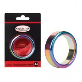 Anneau pénien métal holographique - arc en ciel - Metal Ring Rainbow Steel 44 - MALESATION
