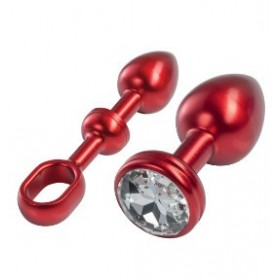 Aluminium Set Plug Anal Small Rouge - MALESATION