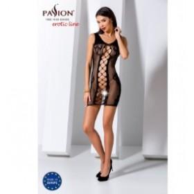 Robe sexy-Noir-Body en filet-PASSION