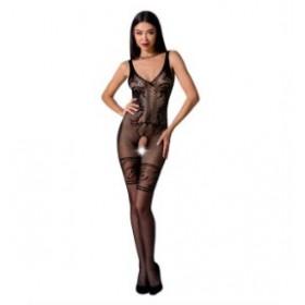 Combinaison sexy-Noir-Broderies-PASSION